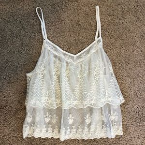 Summer embroidered tank